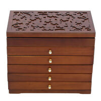 Large Wood Jewelry Cabinet Armoire Box Storage Case Chest Stand Organizer  ♪ |