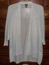Chico's Blizzard Blue Travelers Collection Sparkle Cardigan Size 1 (8/10 M)
