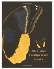 New 5 Year Planner 2022 2026 Weekly Monthly Calendar Organizer Journal Butterfly