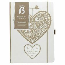Busy B Floral Heart Wedding to Do Matt Laminated Notebook With 4 Paper Pockets