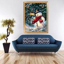 5D DIY Diamond Painting Christmas Snowman Embroidery Cross Stitch Home Decor Kit