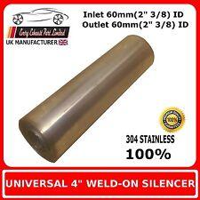 """4 """"x 8"""" souder sur acier inoxydable boîte D'échappement Silencieux corps, 60mm en - 60mm out"""