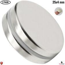 2pcs N35 Powerful 25x4mm Neodymium Magnets Imanes Neodimio Round Disc Multi Use