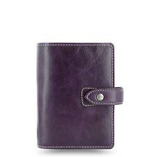 Filofax Malden Purple Pocket Size Organiser Diary Buffalo Leather 425849