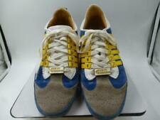 Dsquared2 mens kick it grey/blue/yellow stripe sneakers-hardly worn-Size 41/8.5