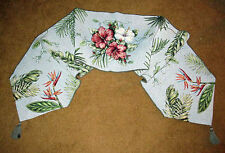 Aloha ~ Tropcial Palms/Hibiscus/Bird of Paradise Tapestry Table Runner