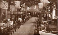 Vintage Postcard The Ball Room, Blair Castle, Blair Atholl Perthshire RPPC  (LA)