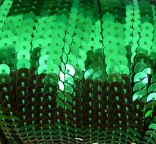 Green 6mm Strip Chain Sequin Trim for Dance Costumes 5m