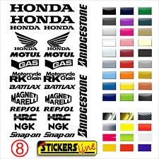 Aufkleber Set Sponsor Techniker Motorrad Honda Rumpf Modell 8