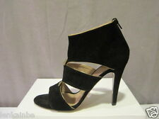 Chloe Black Suede Bow Gladiator Sandals Shoes 40 10