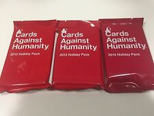 Cards Against Humanity Holiday Pack Expansion 2012 2013 2014 Set - New