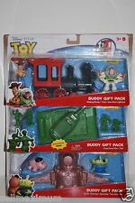 NEW Disney 3 Toy Story Sets, Train, Tank, Porkchop space ship, Woody, Buzz, Pig