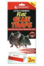 2 RAT MICE MOUSE TRAP Catcher Pad - NEW SUPER STRENGTH SAFE PESTSHIELD