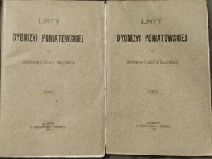 1900   LISTY DYONIZYI PONIATOWSKIEJ do Zaleskich   Paperback   Polish book