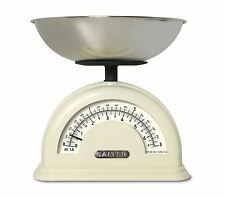 Salter Vintage Retro Style Mechanical Kitchen Food KG/LB Scale - Cream, NEW