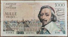 Billets 1000 francs RICHELIEU 2 - 12 - 1954 France D.94