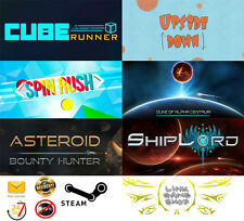 Asteroid Bounty Hunter+ShipLord+Cube Runner+Upside Down+Spin Rush+ PC STEAM KEY