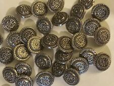 MB77 50 x Lovely Grey Mottled 18mm Good Quality 2 Hole Buttons