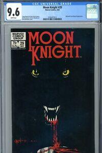 Marvel Moon Knight #29 CGC 9.6 WP