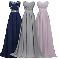 New Long Chiffon Bridesmaid Dresses Formal Gown Ball Party Evening Prom Dress