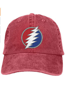 Dead Company Cotton Pigment Dyed Low Profile Six Panel Cap Hat Red