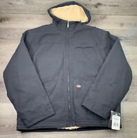 Dickies 164770 Men's Sanded Duck Sherpa Lined Hooded Jacket Size X-Large