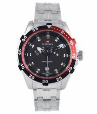 Naviforce 9029 Casual Men's Watches Original Silver Red