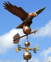 MASSIVE  COPPER EAGLE WEATHERVANE   W/COPPER BALLS & BRASS DIRECTIONALS #131
