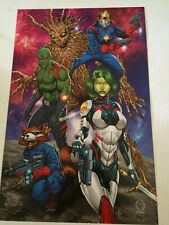GUARDIANS OF THE GALAXY POSTER PRINT MARAT MYCHAELS SIGNED RARE