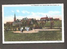 Vtg Postcard Blue Island ILL Playground Play Grounds Park IL Illinois Early