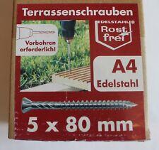 Terrassenschraube  A4 TX25  5x80 mm Säure-/Seewasserbeständig VE 200 St.