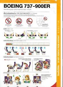 THAI LION AIR B737-900ER REV00 16SEP17 SAFETY CARD