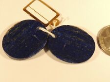 Lapis Lazuli Pair with drilled hole 25x31mm (7504)