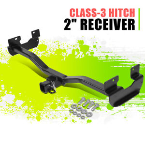 "2"" Class-3 Tow Hitch Receiver Glossy Black Assembly w/Pin for Hummer H3 06-10"