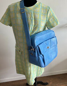 Vintage Samsonite Silhouette Tote Travel Bag Blue Carry On Overnight Luggage
