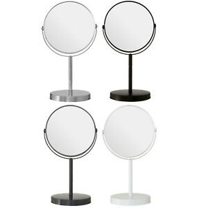 Round Swivel Mirror Dressing Table Make Up Shaving 2x Magnifying Bathroom Vanity