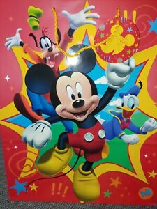 Mickey Mouse Large Gift Bags  Set Of 2 W/Tissue Hallmark. 15.5 h X12.5 w X6 d