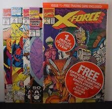 X-Force #s: 1,2,3,4,5 (Marvel, 1991)  Deadpool, Spiderman