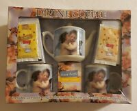 Coffee Cup/Mug Set, Kissing Angels,2 Ceramic Mugs, And Ceramic Coffee Pot! New!