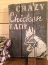 SALE*Primitive Rustic Pallet•CRAZY CHICKEN LADY•COOP•Country•Custom Made For You