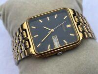 Vintage Wristwatch Pulsar Men Watch Date Day Calendar Japan Movement Watch
