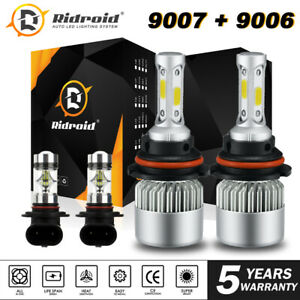 Combo 9007+9006 LED Headlight Fog Bulbs for Dodge Ram 1500 2500 3500 2002-2005