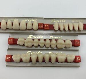1set of 28*1 denture teeth dental acrylic Resin Teeth upper lower 468 A2