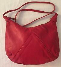 Toni Red Genuine Leather Shoulder Bag