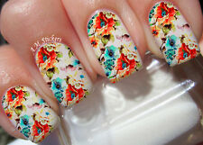 Cute Flower A1021 Nail Art Stickers Transfers Decals Set of 22
