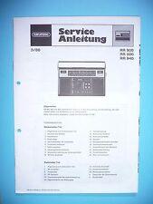 Service Manual-Anleitung für Grundig  RR 900/RR 920/RR 940  ,ORIGINAL