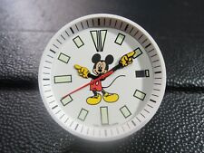 NEW SEIKO MICKEY MOUSE DIAL,HANDS, & RING FITS SEIKO 7002-7000 DIVER'S WATCH