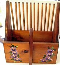 VINTAGE CAPE COD-SIGNED by ARTIST-Hand Crafted & Painted-WOODEN CRANBERRY RAKE-