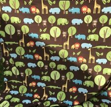 Circo Kids Jungle Safari Shower Curtain Lion Monkey Gator Hippo Elephant crafts