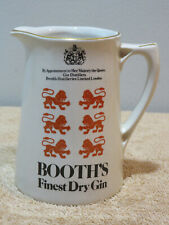 Booth's Finest Dry Gin Vintage Barware Pitcher Advertising Bar London England